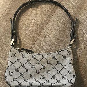 LRL Ralph Lauren Mini purse black and gray